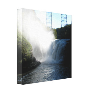 Letchworth State Park - Upper Falls Wrapped Canvas Canvas Print