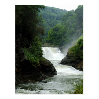 Letchworth State Park Upper Waterfalls Postcard