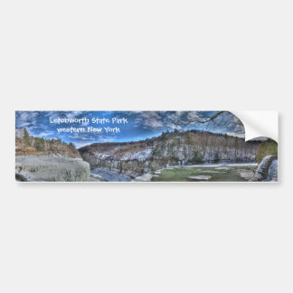 Letchworth Winter Panorama Bumper Sticker