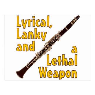 Lethal Clarinet Postcard