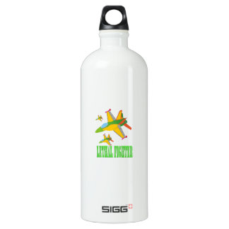 Lethal fighter aluminum water bottle
