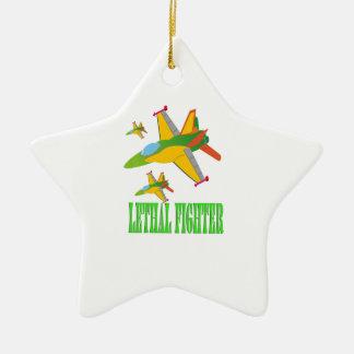 Lethal fighter ceramic ornament