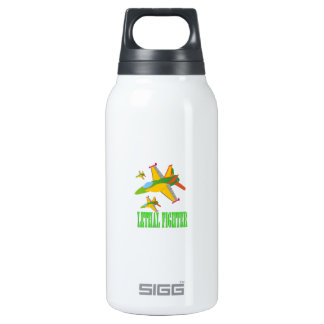 Lethal fighter insulated water bottle