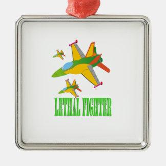 Lethal fighter metal ornament