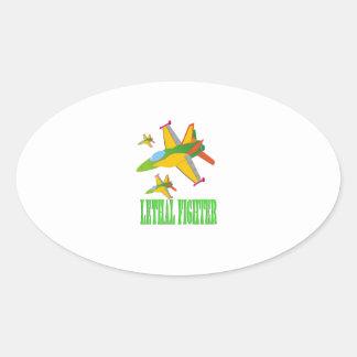 Lethal fighter oval sticker