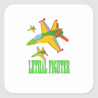 Lethal fighter square sticker