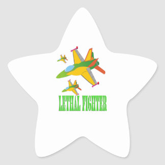 Lethal fighter star sticker