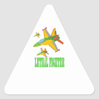Lethal fighter triangle sticker