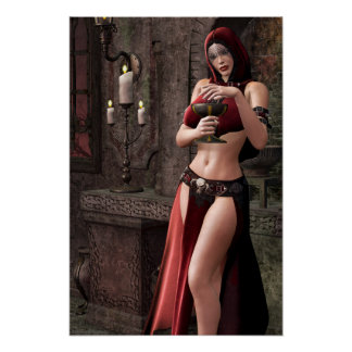 Lethal Libations Gothic Artwork Poster