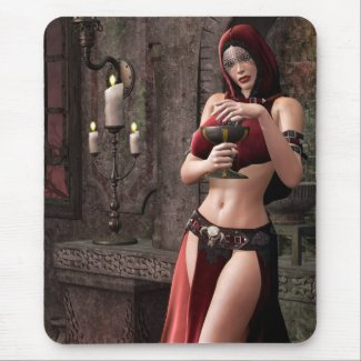 Lethal Libations Gothic Fantasy mousepad