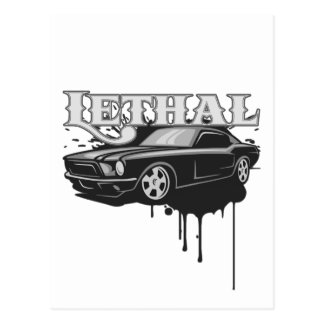 Lethal Muscle Car Postcard