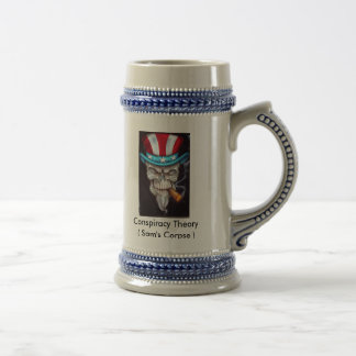 LethalThreatUncleSamSkull1, Conspiracy Theory (... 18 Oz Beer Stein