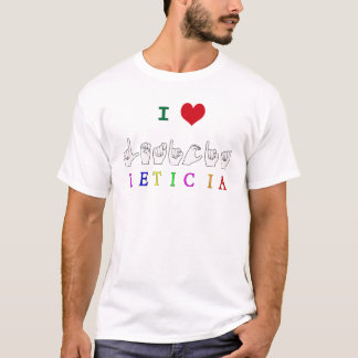 LETICIA FINGERSPELLED ASL SIGN T-Shirt