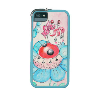 Letitia Ladybug On Flower iPhone 5 Cover