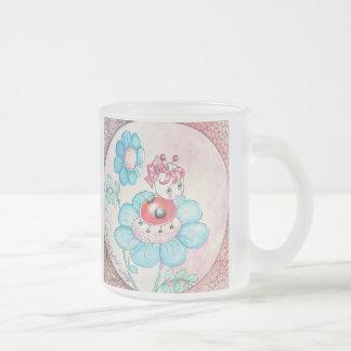 Letitia Ladybug On Flower Coffee Mugs