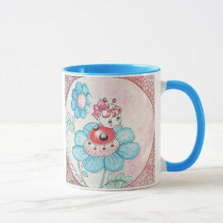 Letitia Ladybug On Flower Mug