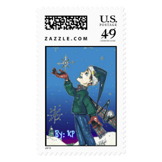 LetItSnow, By: KP Postage Stamp