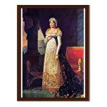 Letizia Bonaparte In Court Dress By Lefèvre Robert Post Card