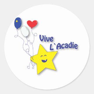 l'étoile acadienne round sticker