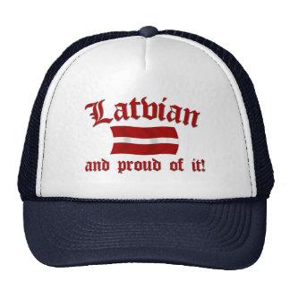 Letón y orgulloso de él gorros bordados