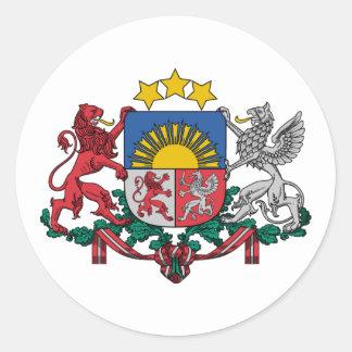 Letonia, Letonia Pegatina Redonda