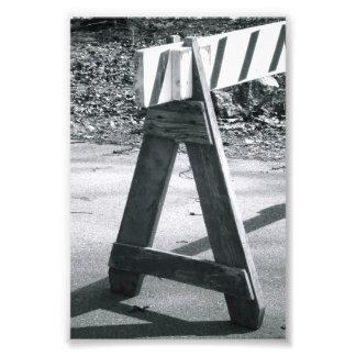 Letra A2 4x6 blanco y negro de la foto del Cojinete