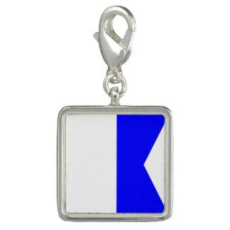 """Letra A """"alfa """" de la señal de la bandera náutica Dijes"""