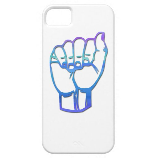 Letra A de alfabeto manual iPhone 5 Case-Mate Protectores