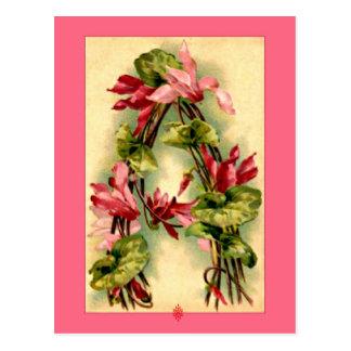 Letra A del alfabeto de la flor de Catherine Klein Postal