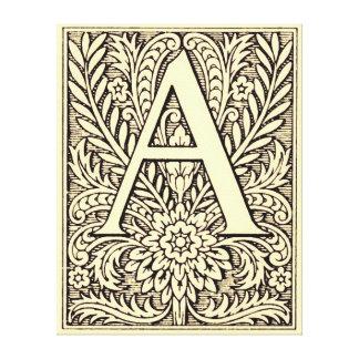 Letra A del alfabeto Lona Envuelta Para Galerias