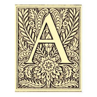 Letra A del alfabeto Postales