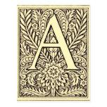 Letra A del alfabeto Tarjetas Postales