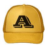 Letra A del gorra del monograma