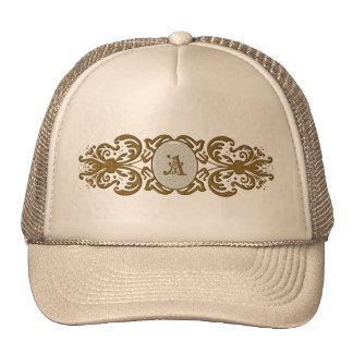Letra A del gorra del monograma de las señoras