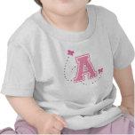 Letra A del monograma Camisetas