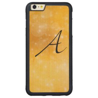 Letra A Funda De Arce Bumper Carved® Para iPhone 6 Plus