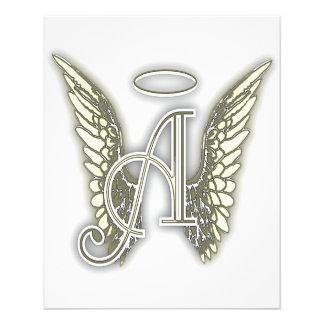 Letra A - La letra de AlphabetInitial del ángel se Folleto 11,4 X 14,2 Cm