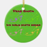 Letra a Santa para las mujeres que aman los Ornamento Para Arbol De Navidad