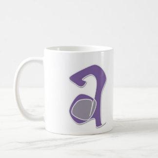 letra a taza de café