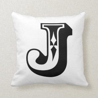 """Letra ABC del alfabeto """"J"""" Cojín"""