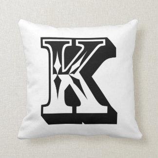 """Letra ABC del alfabeto """"K"""" Cojines"""