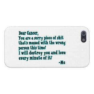 Letra al cáncer iPhone 5 carcasas