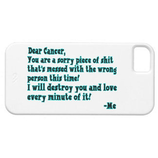Letra al cáncer iPhone 5 funda