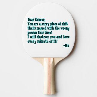 Letra al cáncer pala de tenis de mesa