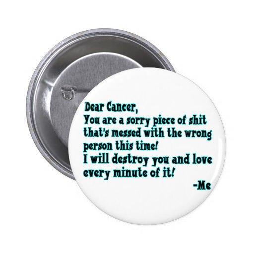Letra al cáncer pin