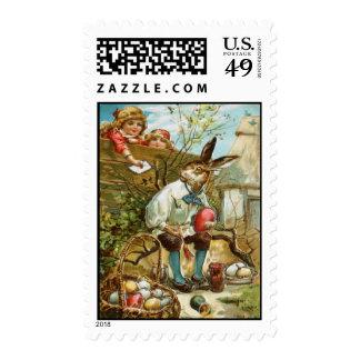 Letra al conejito de pascua magnífico timbre postal
