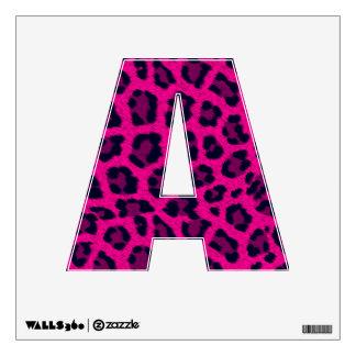 Letra animal A del estampado leopardo 12X12 de las