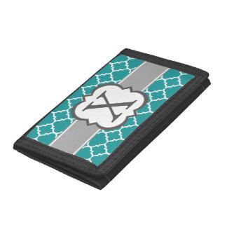 Letra azul X Quatrefoil del monograma del trullo