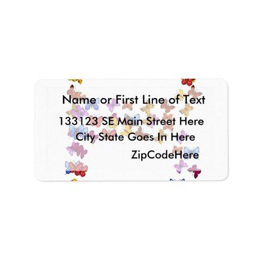 Letra B de los gráficos coloridos de la mariposa Etiquetas De Dirección