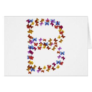 Letra B de los gráficos coloridos de la mariposa Tarjeta Pequeña